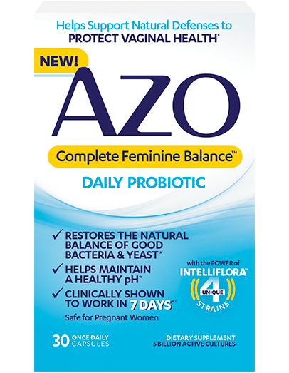 Azo Bladder Control >> AZO Probiotics For Women Support Your Vaginal Health*