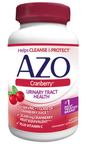 AZO Cranberry Softgels front of bottle