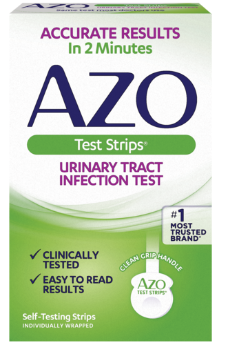 AZO Test Strips front of package