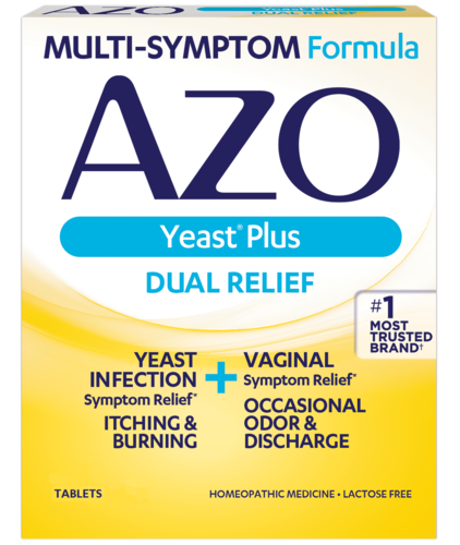 AZO Yeast Plus front of package