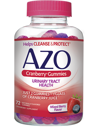 AZO Cranberry Gummies front of bottle