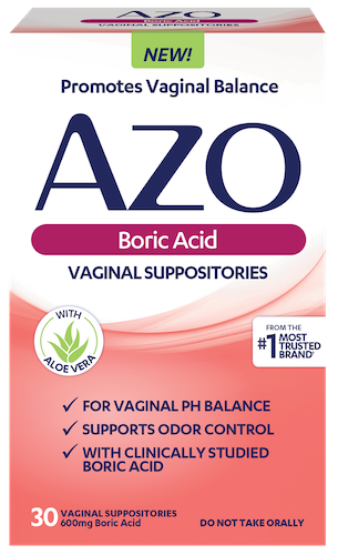 AZO Boric Acid Front of Package