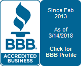 Better Business Bureau - Accredited Business since Feb 2013